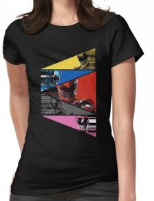 Power Rangers Movie Team (2017) Womens Fitted T-Shirt