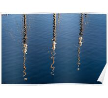 Abstract masts Poster