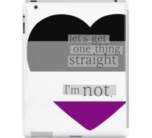 Let's get one thing straight, I'm not - Asexual heart flag iPad Case/Skin