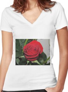 Rose Purity Women's Fitted V-Neck T-Shirt