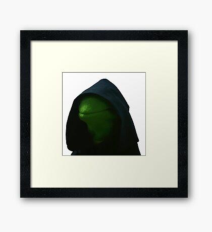 Evil Kermit Meme 2 Framed Print