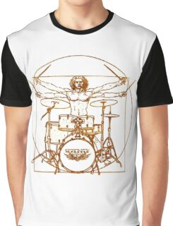 Vitruvian Drummer Man Graphic T-Shirt