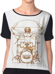 Vitruvian Drummer Man Chiffon Top