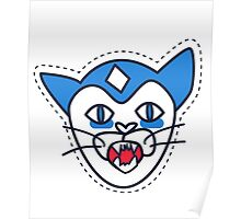 Screaming Cat patch  Poster