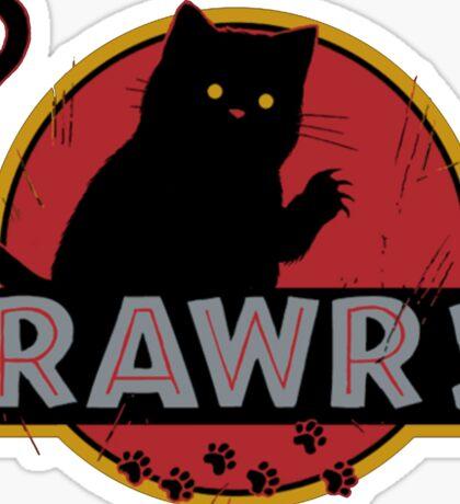 Jurassic cat Sticker