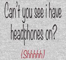I'm wearing headphones One Piece - Short Sleeve