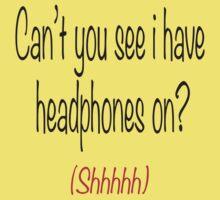 I'm wearing headphones Baby Tee