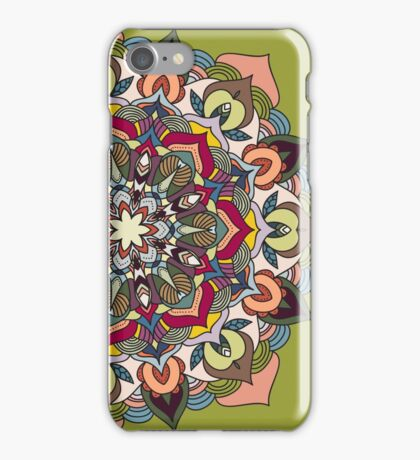 Abstract colorful mandala design iPhone Case/Skin