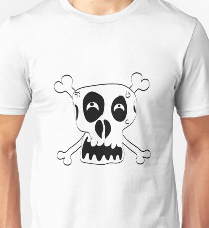 Scary Crazy Looking Skull Unisex T-Shirt