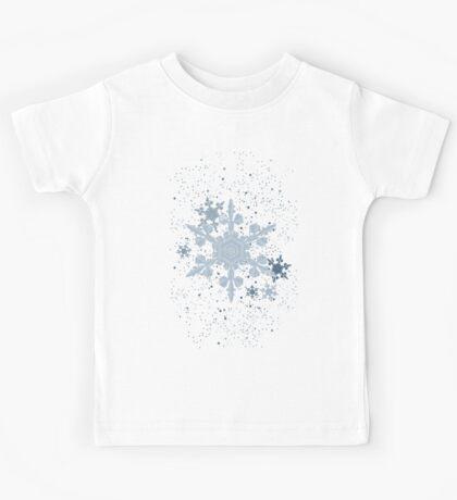 Snow Falls - Blue Kids Tee