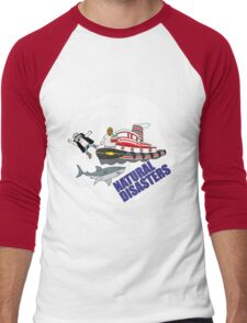 Natural Disasters WWE Wrestling Men's Baseball ¾ T-Shirt