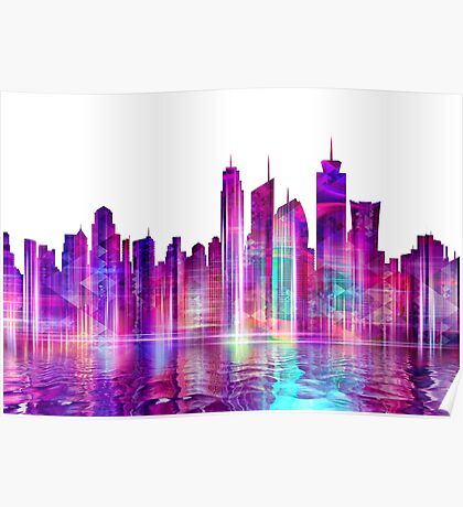 Artistic - XXVI - Abstract Cityscape Poster