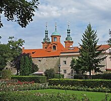 Former Church of St Lawrence from Petrin Park by Graeme  Hyde