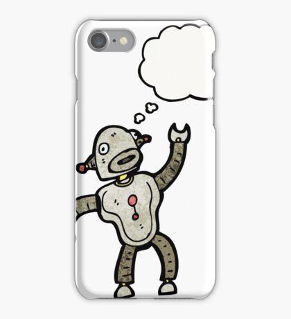 dancing robot cartoon iPhone Case/Skin