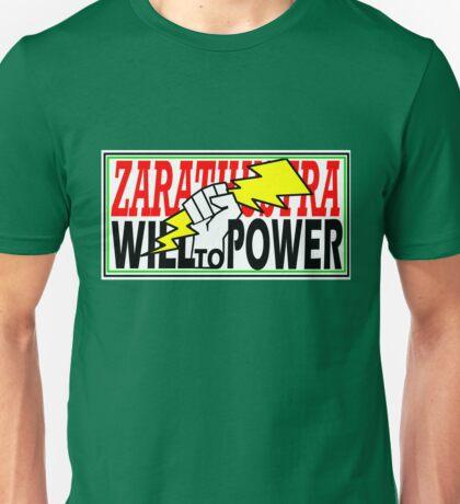 ZARATHUSTRA - WILL TO POWER - NIETZSCHE Unisex T-Shirt