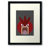Red Gyarados Ball Framed Print