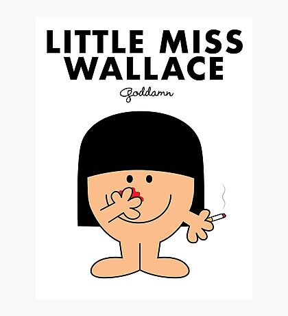 Little Miss Wallace Photographic Print