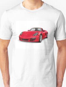 Red 2014 Porsche Boxster S Convertible luxury car art photo print Unisex T-Shirt