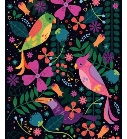 Enchanted Tiki Birds  Sticker