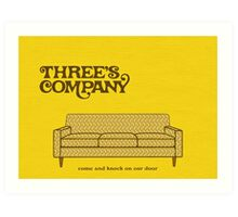 Three's Company Art Print