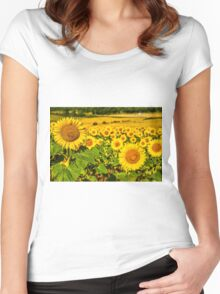 Sunflowers Women's Fitted Scoop T-Shirt