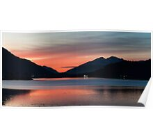 Sunset at Loch Leven Poster