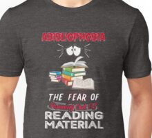 Abibliophobia Book Lover Funny Meaning Emojis Gag Unisex T-Shirt
