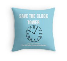 Save the Clock Tower (Back to the Future Print) Throw Pillow