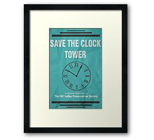 Save the Clock Tower (Back to the Future Print) Framed Print