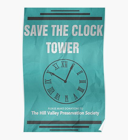 Save the Clock Tower (Back to the Future Print) Poster