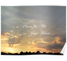 .. a Place for Me in Your Heart .. Poster