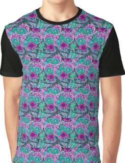 abstract fluorescence floral pattern Graphic T-Shirt
