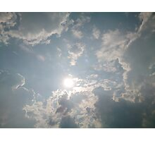 Clouds and sunshine Photographic Print