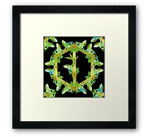 Psychedelic jungle kaleidoscope ornament 13 Framed Print