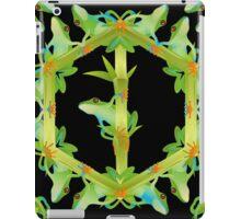 Psychedelic jungle kaleidoscope ornament 13 iPad Case/Skin