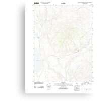 USGS TOPO Map California CA West of Snowstorm Mountain 20120305 TM geo Canvas Print