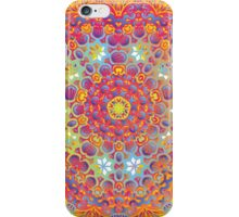 Psychedelic jungle kaleidoscope ornament 15 iPhone Case/Skin