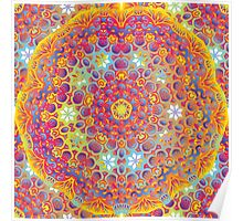 Psychedelic jungle kaleidoscope ornament 15 Poster