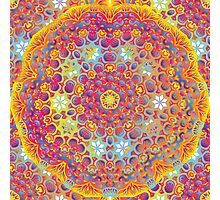 Psychedelic jungle kaleidoscope ornament 15 Photographic Print