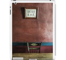 Take a Seat iPad Case/Skin