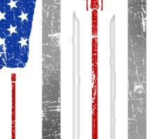Lacrosse American Flag Lax Stick Ball Star Team Sticker