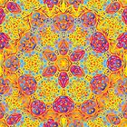Psychedelic jungle kaleidoscope ornament 16 by Andrei Verner