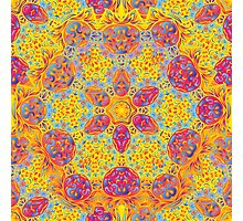 Psychedelic jungle kaleidoscope ornament 16 Photographic Print