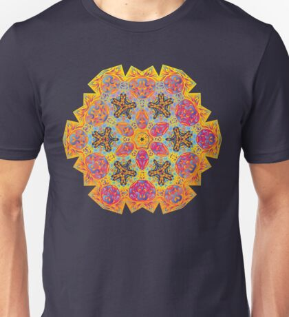 Psychedelic jungle kaleidoscope ornament 16 Unisex T-Shirt