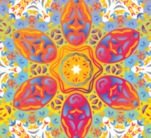 Psychedelic jungle kaleidoscope ornament 16 Sticker