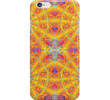 Psychedelic jungle kaleidoscope ornament 17 iPhone Case/Skin