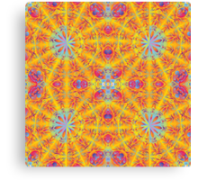 Psychedelic jungle kaleidoscope ornament 17 Canvas Print