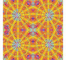 Psychedelic jungle kaleidoscope ornament 17 Photographic Print