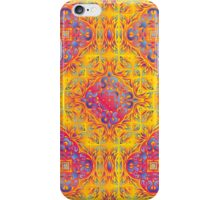 Psychedelic jungle kaleidoscope ornament 18 iPhone Case/Skin