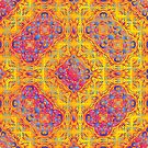 Psychedelic jungle kaleidoscope ornament 18 by Andrei Verner